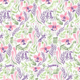 Orchids in White, Pink Paradise Collection by Rae Ritchie For Dear Stella Fabrics, Weave and Woven