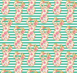 Deer in Teal, Just Sayin' Collection for Riley Blake Fabrics, Weave and Woven