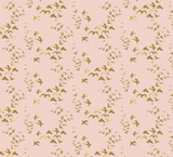 Birds in Pink ~ Metallic Gold, Up Up and Away Collection for Camelot Fabrics, Weave and Woven