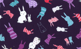 Bunnies on Navy, Kids Land Collection for Cosmo Fabrics, Weave and Woven