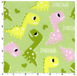 Dinos on Green ~ Flannel