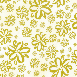 Golden Florals ~ Metallic, Quilting Cotton, 3 Wishes - Weave & Woven