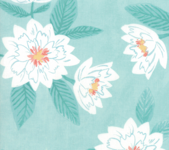 Twilight Florals in Mist, Twilight Collection by One Canoe Two for Moda Fabrics, Weave and Woven