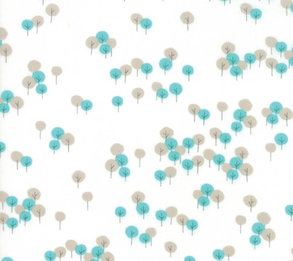 Woodland Trees in Cloud, Woodland Secrets Collection for Moda Fabrics, Weave and Woven