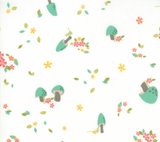 Woodland Mushrooms in Cloud, Woodland Secrets Collection for Moda Fabrics, Weave and Woven