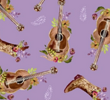 Weekend Guitar in Lilac, Wanderers Weekend Collection for Windham Fabrics, Weave and Woven