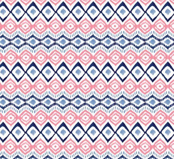 ikat in Navy and Coral, indigo Rose Collection for Camelot Fabrics, Weave and Woven
