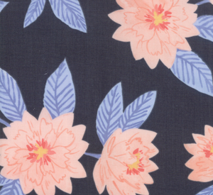 Twilight Florals in Midnight, Quilting Cotton, Moda Fabrics - Weave & Woven