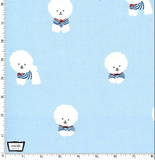 Bichon Frise in Sail, Quilting Cotton, Michael Miller - Weave & Woven