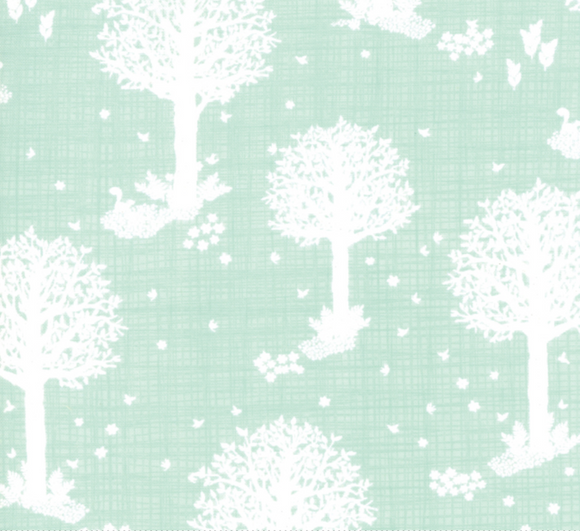 Forest Wonder in Aqua for Moda Fabrics | Weave and Woven