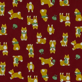 Shiba Inu in Red, Quilting Cotton, Cosmo - Weave & Woven