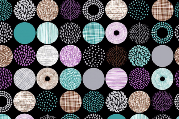 Textured Circles in Electric ~ Oxford, Oxford, Cosmo - Weave & Woven