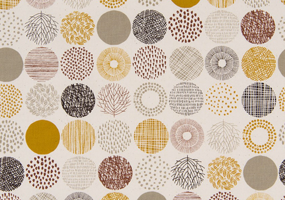 Textured Circles in Fall ~ Oxford - Weave & Woven