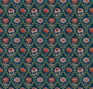 Kew Trellis in Teal, Quilting Cotton, Liberty of London - Weave & Woven