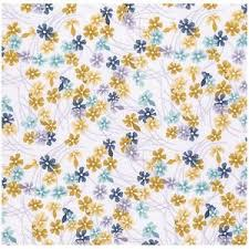 Meadow in Maize, Wander Collection for Free Spirit Fabrics, Weave and Woven