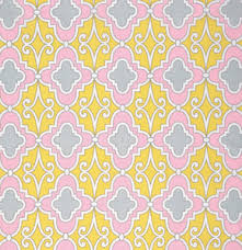 Lattice in Pink, Butterfly Garden Collection for Free Spirit Fabrics, Weave and Woven