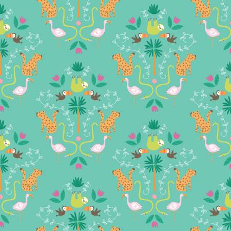 Canopy in Green, Quilting Cotton, Riley Blake Fabrics - Weave & Woven