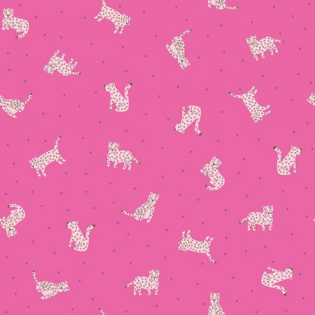 Canopy Rawr in Hot Pink for Riley Blake Designs | Weave and Woven