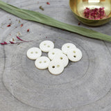 Classic Shine Buttons in Off White, Button, Atelier BRUNETTE - Weave & Woven