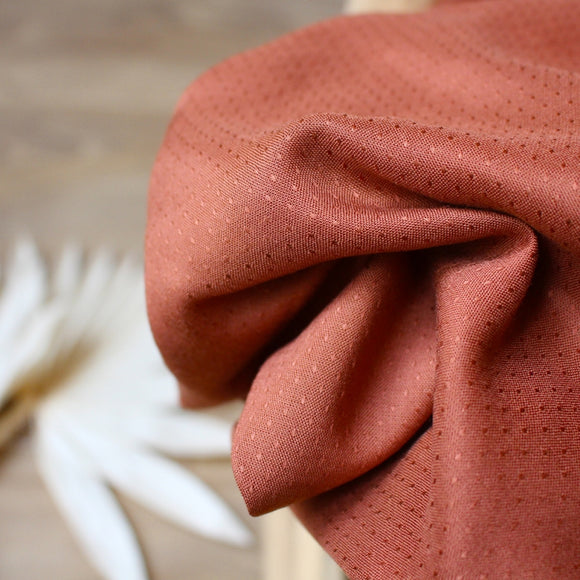 Dobby in Chestnut | Rayon Viscose Fabric, Rayon Viscose, Atelier BRUNETTE - Weave & Woven
