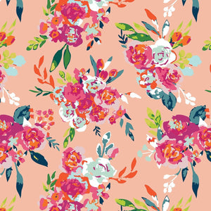 Garden Party Florals on Blush, Quilting Cotton, Riley Blake Fabrics - Weave & Woven