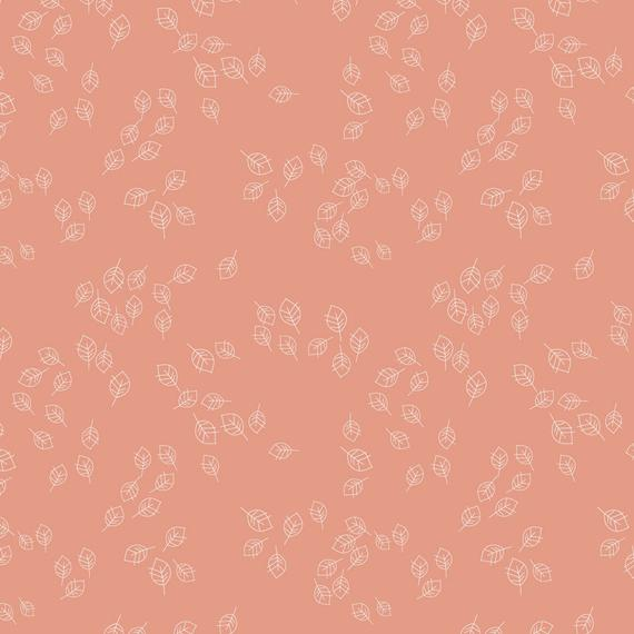 Little Leaves in Coral - Weave & Woven