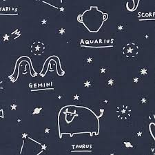 Star Sign in Navy, Kokka Fabrics, Cotton Linen Canvas, Weave and Woven