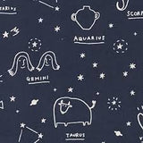 Star Sign in Navy ~ Canvas, Canvas, Kokka - Weave & Woven