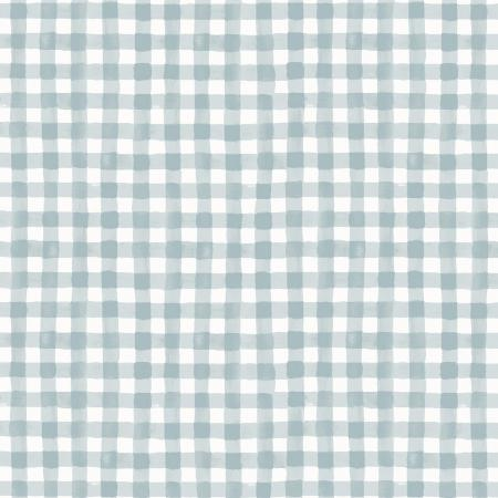 Painted Gingham in Slate, meadow collection for rifle paper co | Weave and Woven