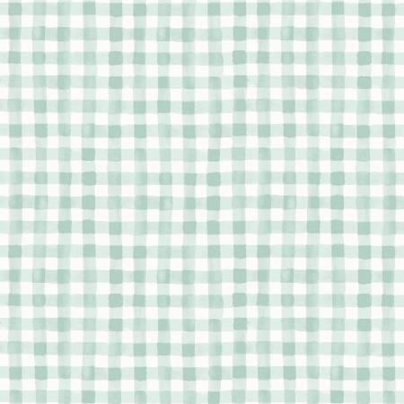 Painted Gingham in Mint, Meadow Collection for Rifle Paper Co. | Weave and Woven