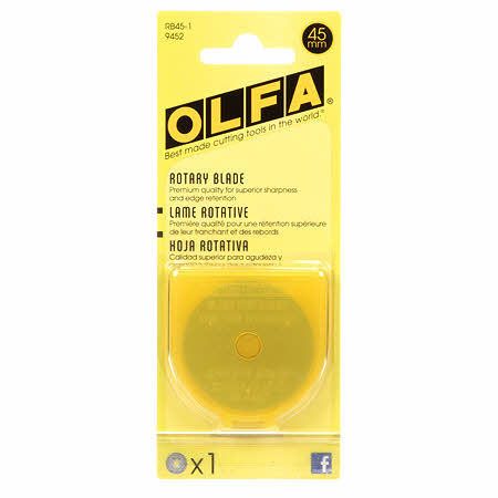 Rotary Cutter Blades 45mm | 1 Blade, Notion, Olfa - Weave & Woven