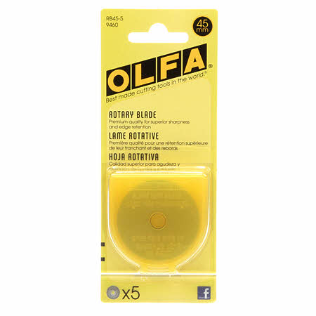 Rotary Cutter Blades 45mm | 5 pack, Notion, Olfa - Weave & Woven