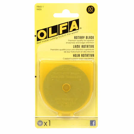 Rotary Cutter Blades 60mm | 1 Blade, Notion, Olfa - Weave & Woven