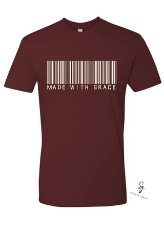 """Made With Grace"" Short Sleeves Tees"