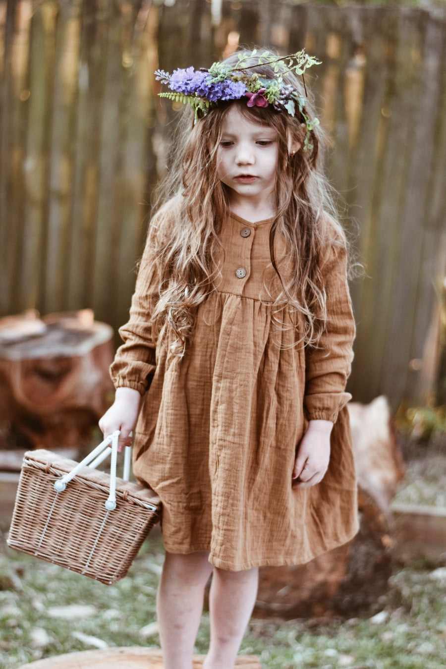 AELLA DRESS - RUST