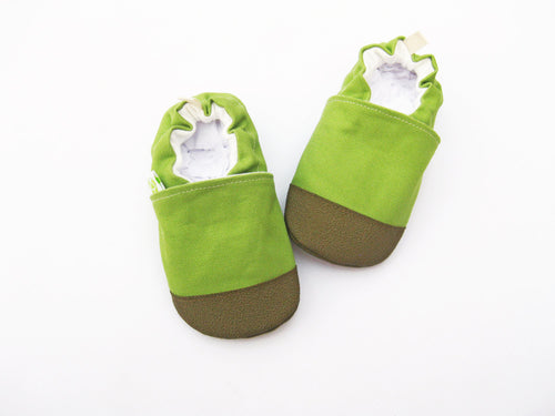 8dac5c551de Avocado Green - Organic Heavy Canvas Non-Slip Soft Sole Baby and Toddler  Shoes