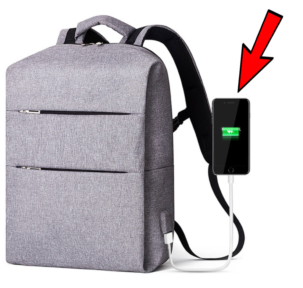 Backpack USB Charging Water Repellent Backpack - 15.6 inches Laptop carry pocket