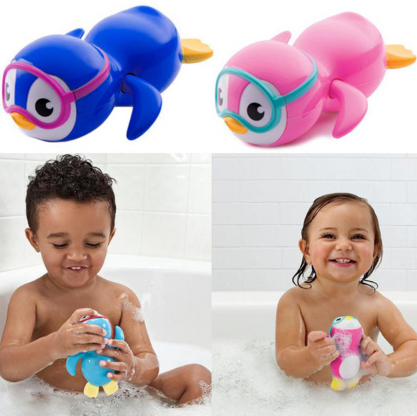 Wind up swimming bath toy - penguin
