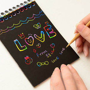 Scratch art / Paper magic - plus drawing stick
