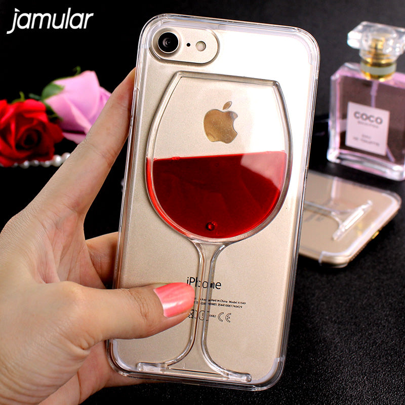 JAMULAR RED WINE CRYSTAL CLEAR TPU iPHONE CASE