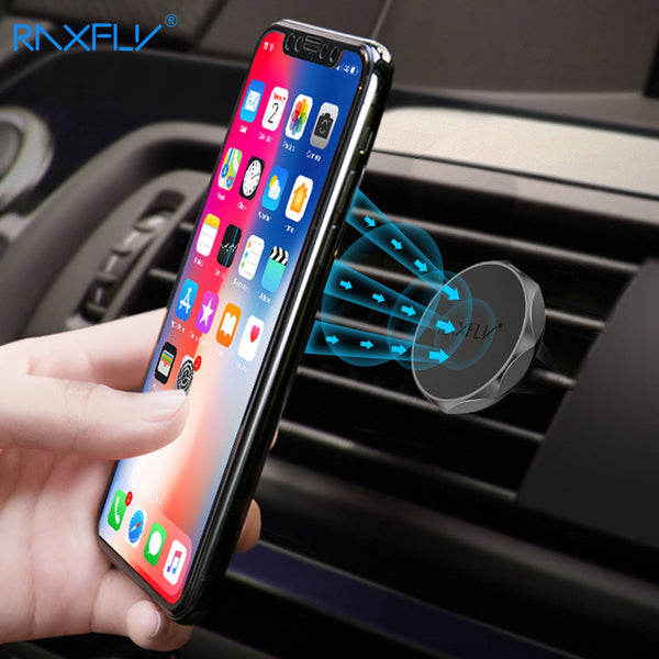 RAXFLY Ultra-Slim Magnetic Smart Phone Holder For Cars - Air Vents Mount