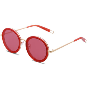 Flat Oversized Round Sunglasses