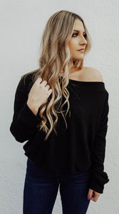 Black Cozy Top