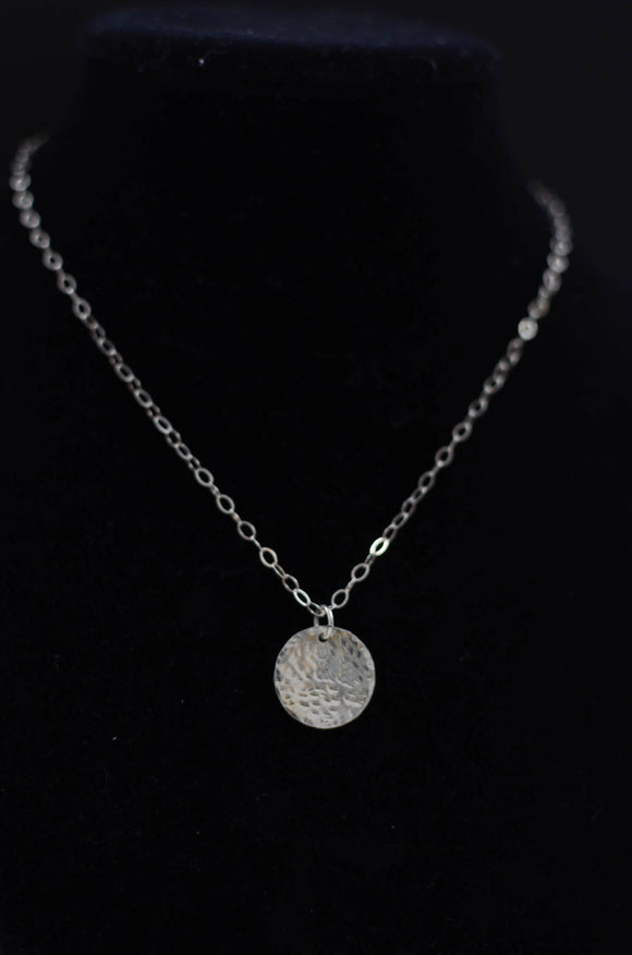 Sterling Silver Coin Necklace - Medium