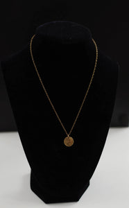 Gold Coin Necklace - Small