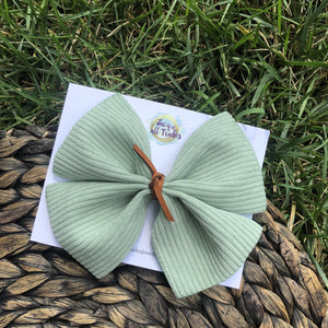 Corduroy Ribbon Bow