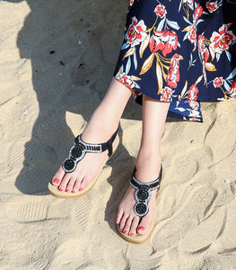 Fashionable Pearl Sandals Women Bohemian Women's Shoes