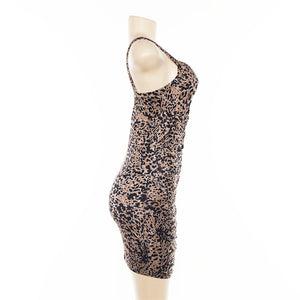 Summer Women Sexy Leopard Print Backless Dress