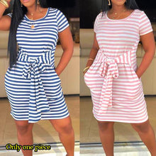Hot Selling Women's Dresses Summer New Sexy Tight-fitting Printed Dresses with Belts and Side Pockets