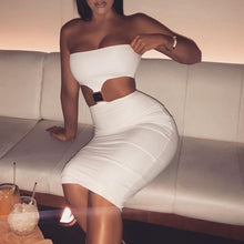 Fashion Women's Sexy Sleeveless Chest-wrapped Dresses and Hip-wrapped Skirts